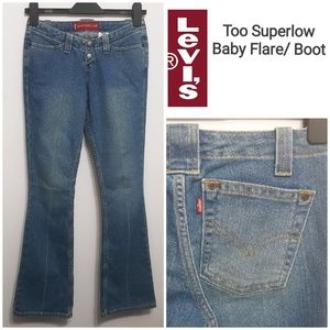 💥3/$15LEVI'S Too Superlow Baby Flare/BootCut Jean